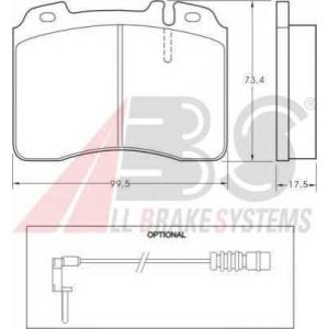 A.B.S. 36716 Комплект тормозных колодок, дисковый тормоз Мерседес Кабриолет