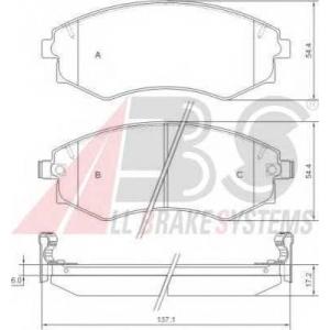 A.B.S. 36717 Комплект тормозных колодок, дисковый тормоз Киа Маджентис