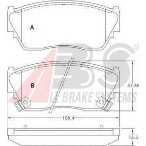 ABS 36728 Комплект тормозных колодок, дисковый тормоз