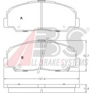 A.B.S. 36736 Комплект тормозных колодок, дисковый тормоз Дайхатсу