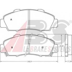 A.B.S. 36737 Комплект тормозных колодок, дисковый тормоз Хонда Шаттл