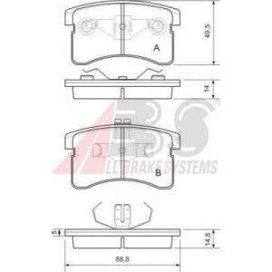 A.B.S. 36745 Комплект тормозных колодок, дисковый тормоз Дайхатсу