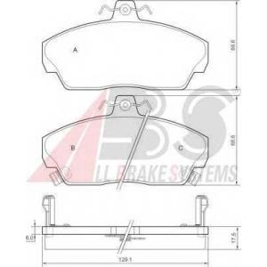 A.B.S. 36746 Колодка торм. HONDA CIVIC передн. (пр-во ABS)