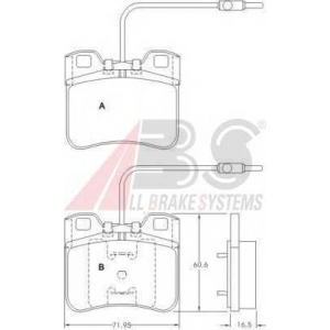 A.B.S. 36751 Комплект тормозных колодок, дисковый тормоз Ситроен Ах