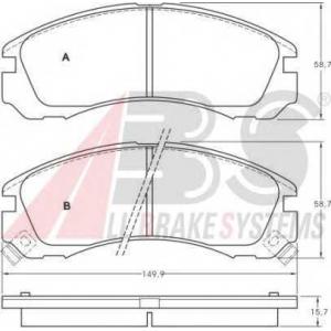 A.B.S. 36753 Комплект тормозных колодок, дисковый тормоз Митсубиси Л 400