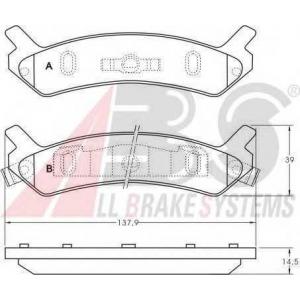 A.B.S. 36754 Комплект тормозных колодок, дисковый тормоз Хюндай Соната
