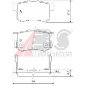 A.B.S. 36758 Комплект тормозных колодок, дисковый тормоз Хонда Шаттл