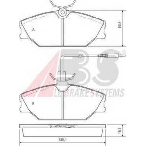 A.B.S. 36769 Комплект тормозных колодок, дисковый тормоз Рено Сафране