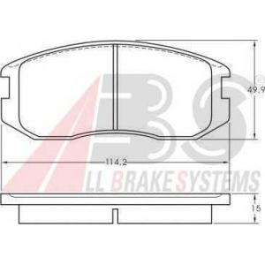 A.B.S. 36772 Комплект тормозных колодок, дисковый тормоз Митсубиси Кольт