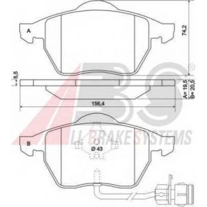 A.B.S. 36773 Комплект тормозных колодок, дисковый тормоз Ауди 200