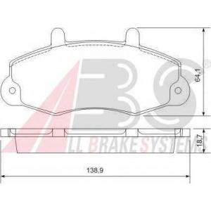 A.B.S. 36775 Комплект тормозных колодок, дисковый тормоз Форд Транзит