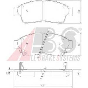 A.B.S. 36777 Колодка торм. TOYOTA CAMRY/COROLLA/RAV4 передн. (пр-во ABS)