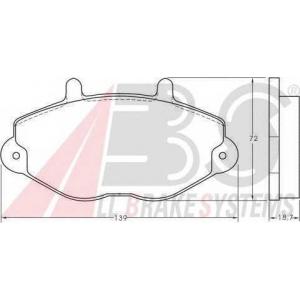 A.B.S. 36785 Колодка торм. FORD TOURNEO/TRANSIT передн. (пр-во ABS)