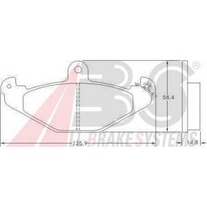 A.B.S. 36788 Комплект тормозных колодок, дисковый тормоз Крайслер Випер