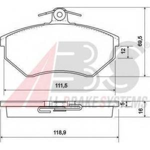 A.B.S. 36790 Комплект тормозных колодок, дисковый тормоз Ауди 90