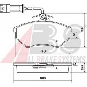 A.B.S. 36791 Комплект тормозных колодок, дисковый тормоз Ауди 90