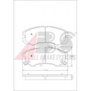 A.B.S. 36793 Комплект тормозных колодок, дисковый тормоз Опель Фронтера