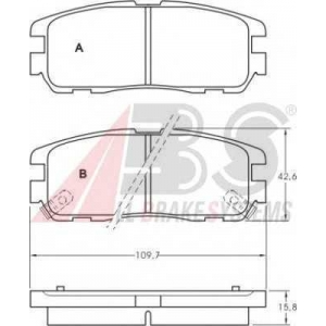 A.B.S. 36794 Комплект тормозных колодок, дисковый тормоз Опель Фронтера