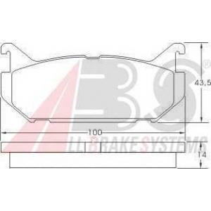 A.B.S. 36796 Комплект тормозных колодок, дисковый тормоз Мазда Кседос 6