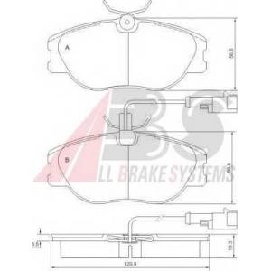 A.B.S. 36800 Комплект тормозных колодок, дисковый тормоз Лансия