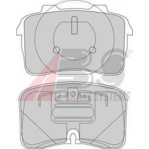 A.B.S. 36813 Комплект тормозных колодок, дисковый тормоз Ауди В8
