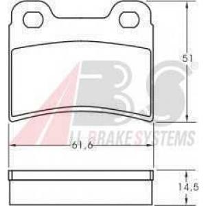 A.B.S. 36814 Комплект тормозных колодок, дисковый тормоз Киа Сефия