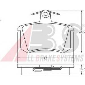 A.B.S. 36818 Комплект тормозных колодок, дисковый тормоз Ауди Кабриолет