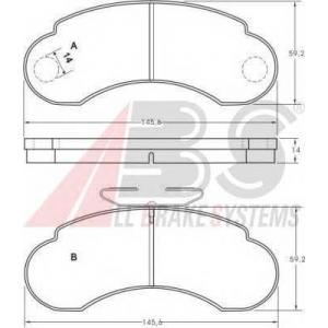 ABS 36828 Гальмiвнi колодки дисковi