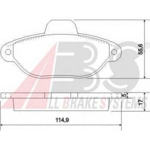 A.B.S. 36854 Комплект тормозных колодок, дисковый тормоз Лансия