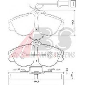 A.B.S. 36856 Комплект тормозных колодок, дисковый тормоз Ауди Кабриолет