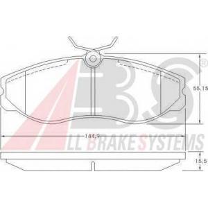 ABS 36861 Гальмiвнi колодки дисковi