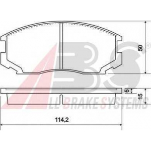 A.B.S. 36865 Комплект тормозных колодок, дисковый тормоз Дайхатсу Астраи