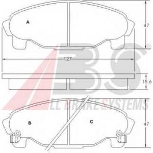 A.B.S. 36869 Комплект тормозных колодок, дисковый тормоз Дайхатсу