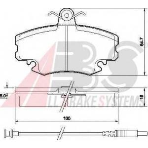 A.B.S. 36881 Комплект тормозных колодок, дисковый тормоз Дача Логан Mcb