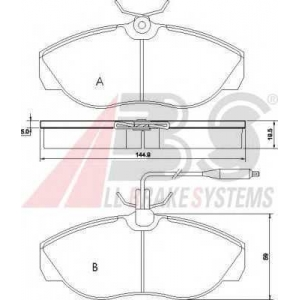 A.B.S. 36883 Колодка торм. CITROEN/FIAT/PEUGEOT JUMPER/DUCATO/BOXER передн. (пр-во ABS)