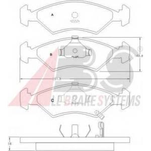 A.B.S. 36886 Комплект тормозных колодок, дисковый тормоз Киа Сефия