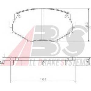 A.B.S. 36889 Комплект тормозных колодок, дисковый тормоз Мазда М-Икс 5