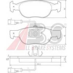 A.B.S. 36892 Комплект тормозных колодок, дисковый тормоз Фиат Гранд Пунто