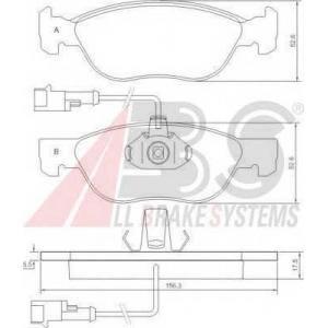 A.B.S. 36893 Комплект тормозных колодок, дисковый тормоз Фиат Барчетта