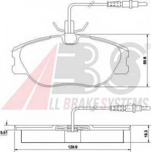 A.B.S. 36899 Комплект тормозных колодок, дисковый тормоз Фиат