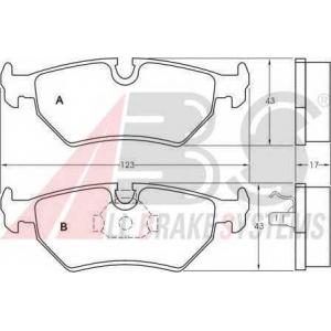 A.B.S. 36900 Комплект тормозных колодок, дисковый тормоз Фиат