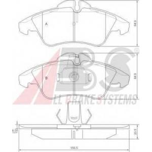 Комплект тормозных колодок, дисковый тормоз 36901 abs - MERCEDES-BENZ SPRINTER 2-t автобус (901, 902) автобус 208 D