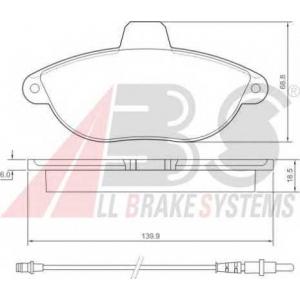 A.B.S. 36911 Колодка торм. CITROEN/FIAT/PEUGEOT JUMPY/SCUDO/EXPERT передн. (пр-во ABS)