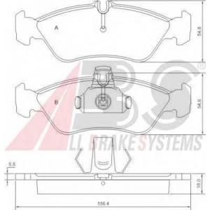 A.B.S. 36913 Колодка торм. MB/VW SPRINTER 300/LT35 задн. (пр-во ABS)