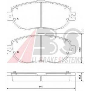 A.B.S. 36920 Комплект тормозных колодок, дисковый тормоз Лексус Лс