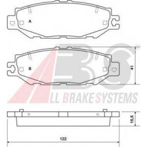 A.B.S. 36922 Комплект тормозных колодок, дисковый тормоз Лексус Лс