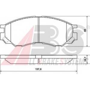 A.B.S. 36925 Комплект тормозных колодок, дисковый тормоз Митсубиси Л 400