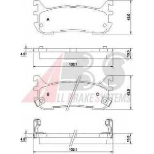A.B.S. 36927 Комплект тормозных колодок, дисковый тормоз Мазда М-Икс 5
