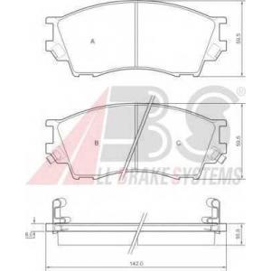 A.B.S. 36929 Комплект тормозных колодок, дисковый тормоз Мазда Кседос 9