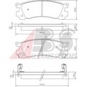 A.B.S. 36930 Комплект тормозных колодок, дисковый тормоз Мазда Кседос 9